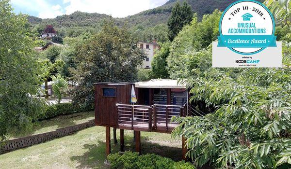 Camping Tranquilla di Baveno (VB) con la casa sull'albero