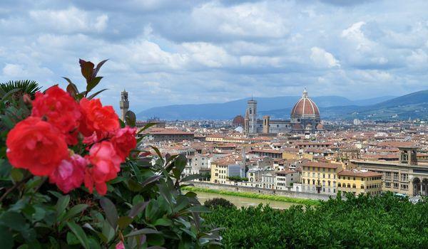 Veduta di Firenze in primavera