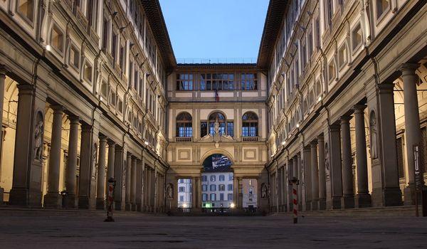 Galleria degli Uffizi a Firenze in Toscana