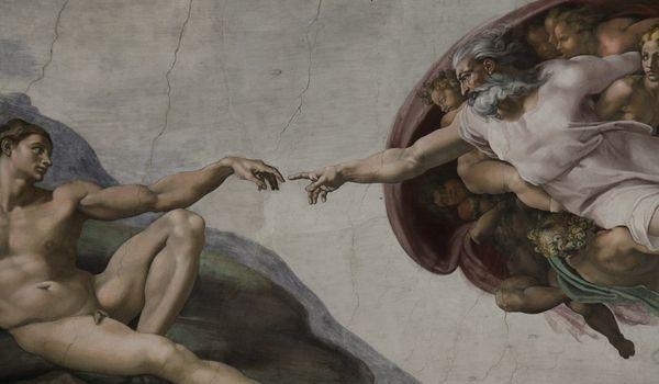 Dettaglio della Cappella Sistina a Roma