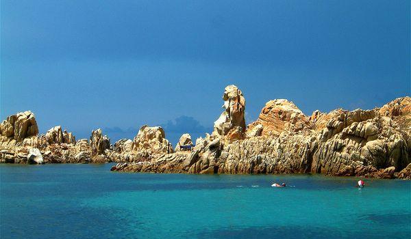 Scorcio della Costa Smeralda in Sardegna