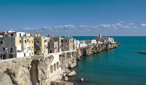 Scorcio di Vieste sul Gargano in Puglia