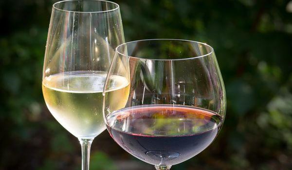 Bicchieri di vino ligure