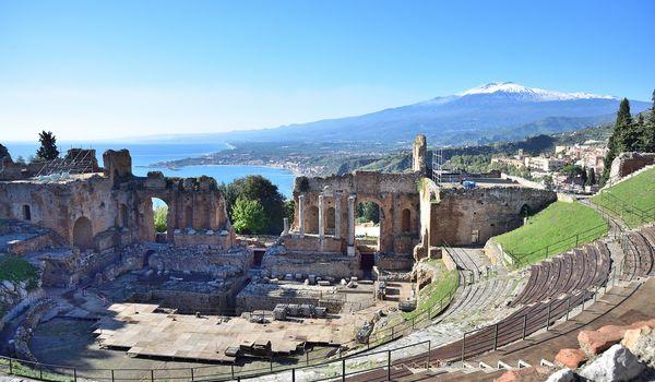 Teatro di Taormina in Sicilia