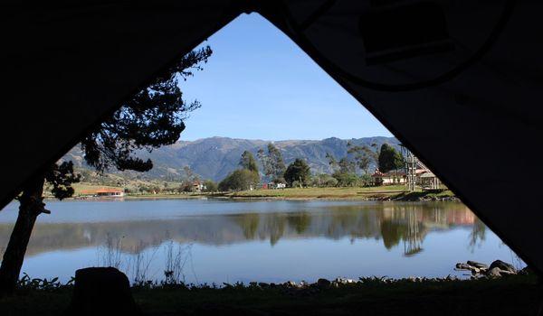 Piazzola tenda in camping