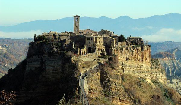 Civita di Bagnoregio nel Lazio