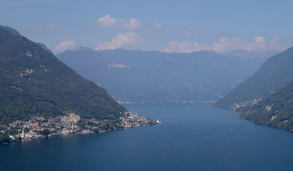Lago di Como visto dall'alto