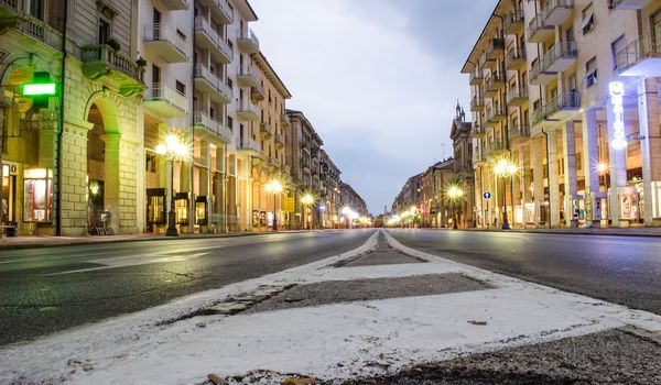 Scorcio di Cuneo in Piemonte