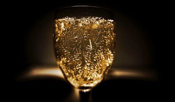 Bicchiere di bollicine