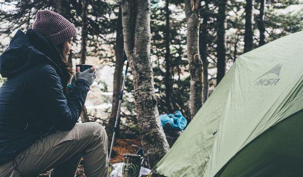 Camping nella natura
