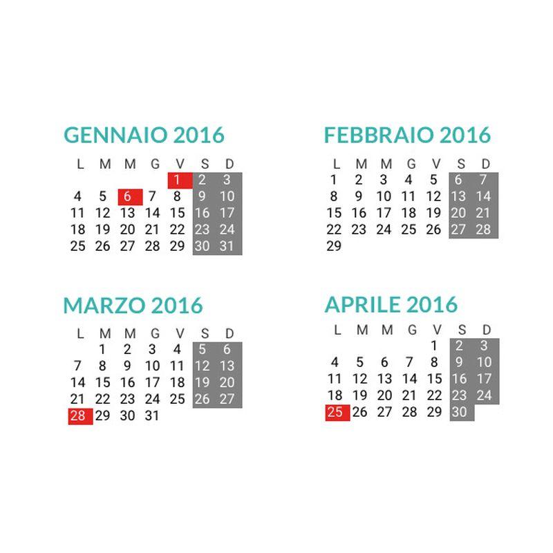 Calendario Con Numero Giorni.Tutti In Vacanza Con I Ponti Del 2016 11 Giorni Festivi Per
