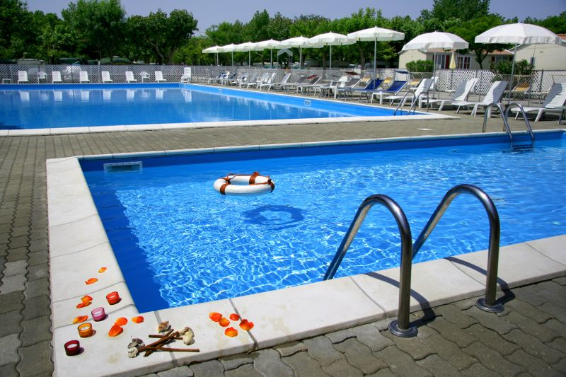 La piscina del Camping Adriatico