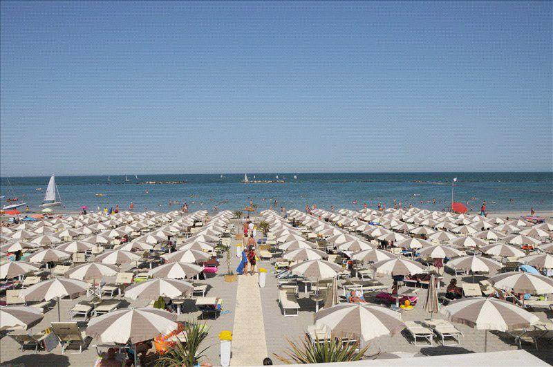 Spiaggia sulla riviera adriatica