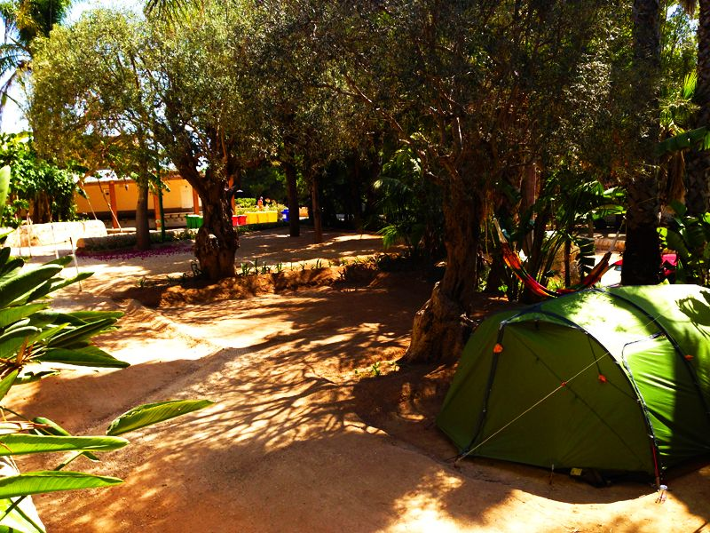 Campeggio in Sicilia sul mare