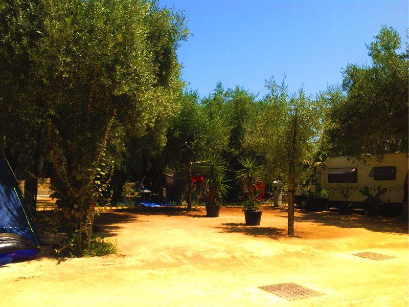 Le piazzole del Camping Sabbiadoro, Sicilia