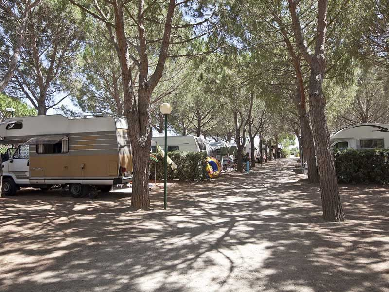 Camping am Meer in der Toskana
