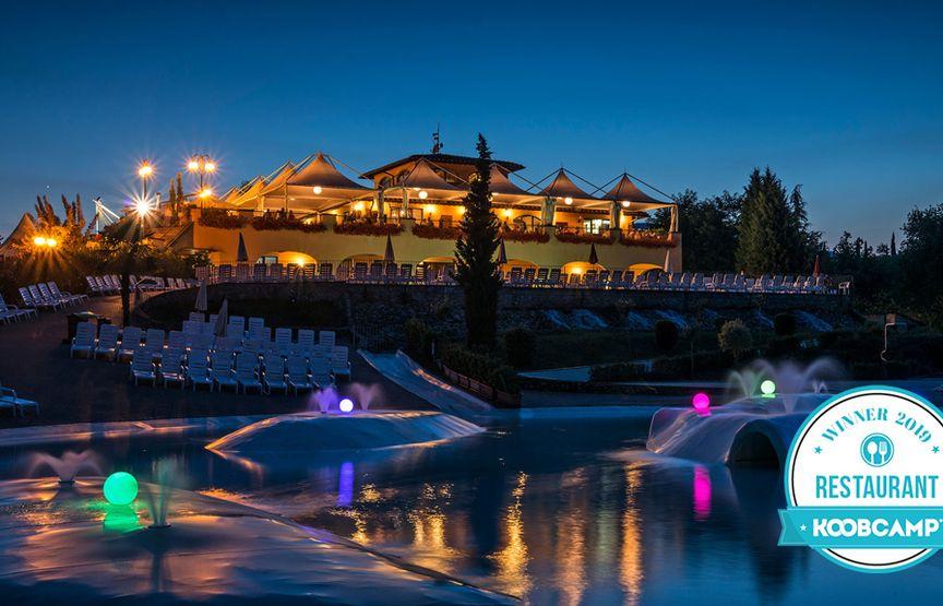 Die 10 Campingplätze und Feriendörfer mit besten Restaurant von 2019: gewinner ist der Norcenni Girasole Club von Figline Valdarno (FI), in der Toskana.